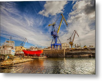 Ship Yard Metal Print