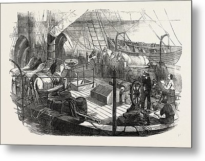 Shipping Artillery Horses At Calais For The French Metal Print