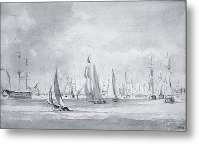 Shipping In The Thames Metal Print