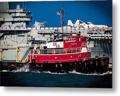 Shipping Lane Hero Metal Print by Bartz Johnson