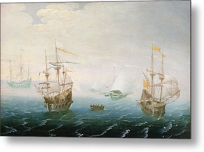 Shipping On Stormy Seas Metal Print by Aert van Antum
