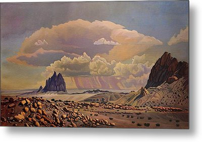 Shiprock Vista Metal Print by Art West