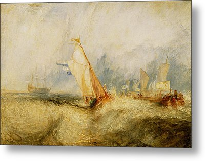 Ships A Sea Getting A Good Wetting Metal Print by Joseph Mallord