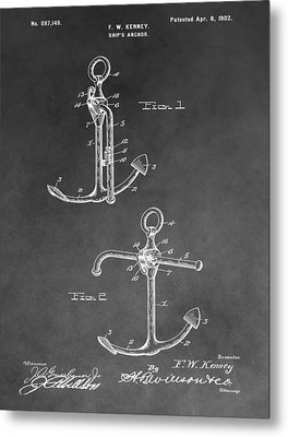 Ship's Anchor Patent Metal Print