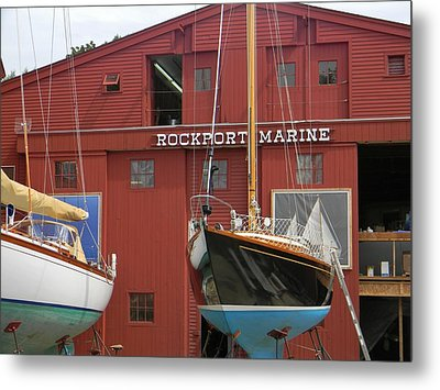 Ships In Waiting Metal Print by Jean Goodwin Brooks