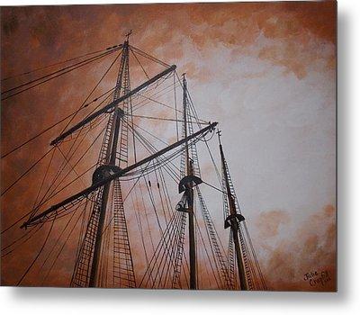 Ships Masts Metal Print by Julie Cranfill