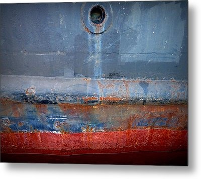 Shipside Abstract II Metal Print by Patricia Strand