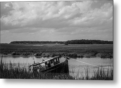 Shipwrecked  Metal Print by Steven  Taylor