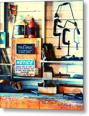 Shipyard Carpentry Metal Print
