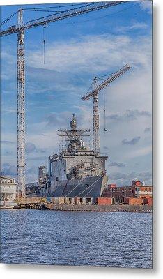 Shipyard Metal Print by David Cote