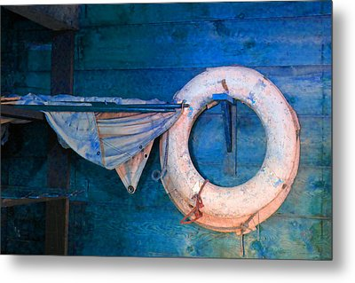 Shipyard Lifesaver Metal Print