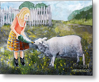 Shirley And Curly Metal Print by Barbara McMahon