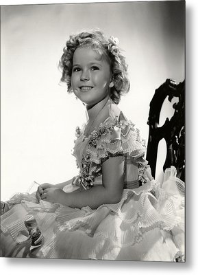 Shirley Temple Portrait Metal Print by Georgia Fowler