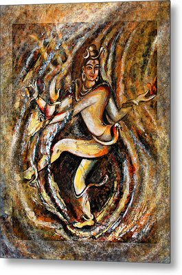 Metal Print featuring the painting Shiva Eternal Dance by Harsh Malik