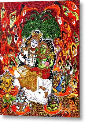 Shiva Kudumba Metal Print by Saranya Haridasan