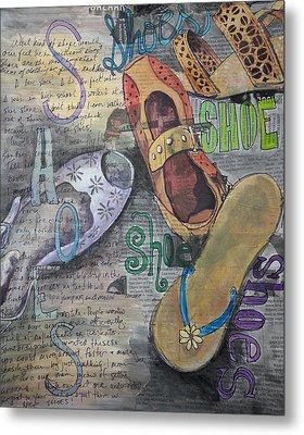 Shoe Obsession Metal Print