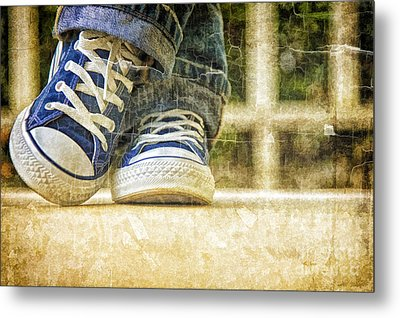 Metal Print featuring the photograph Shoes by Linda Blair