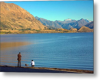 Shooting Ducks On Lake Wanaka Metal Print by Stuart Litoff