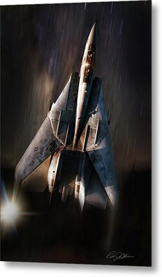 Shooting Star Metal Print by Peter Chilelli