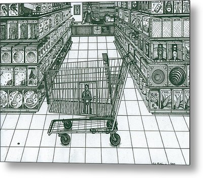 Shop And Slave Metal Print by Richie Montgomery