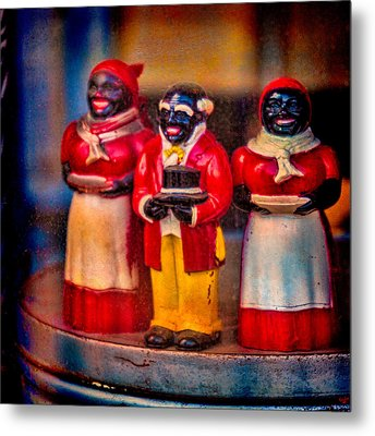 Metal Print featuring the photograph Shop Window Trio by Chris Lord