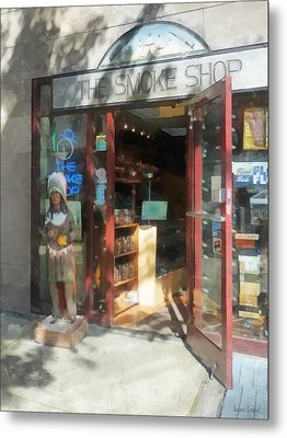 Shopfronts - Smoke Shop Metal Print by Susan Savad