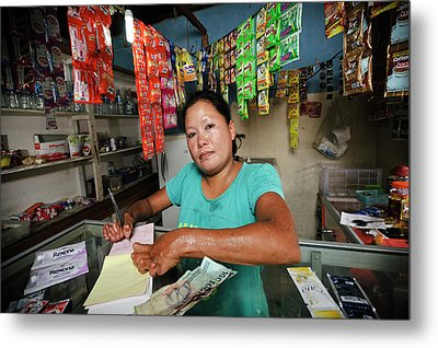 Shopkeeper With Leprosy Metal Print by Matthew Oldfield