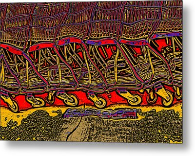 Shopping Carts Metal Print