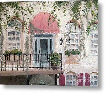 Shopping In Savannah Metal Print by Marilyn Zalatan
