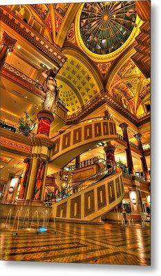 Shops Of Gold Metal Print by Zachary Cox