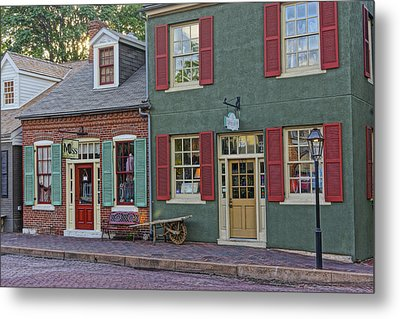 Shops S Main St Charles Mo Dsc00886  Metal Print by Greg Kluempers
