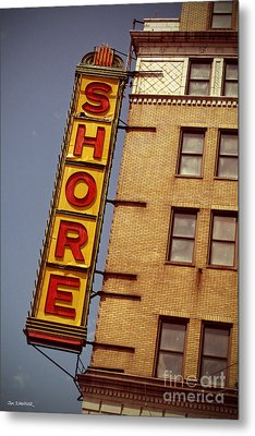 Shore Building Sign - Coney Island Metal Print by Jim Zahniser