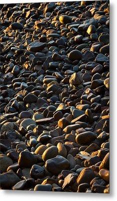 Shore Stones Metal Print by Steve Gadomski