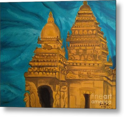 Shore Temple Metal Print by Brindha Naveen
