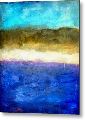 Shoreline Abstract Metal Print by Michelle Calkins