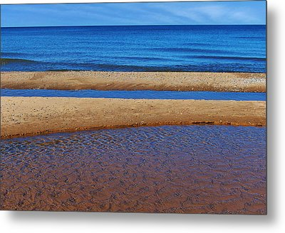 Metal Print featuring the photograph Shoreline Reefs by Kathi Mirto