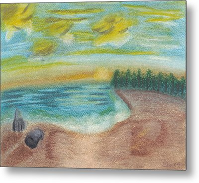 Shoreline Metal Print by Susan Schmitz
