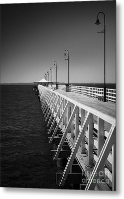 Shorncliffe Pier In Monochrome Metal Print