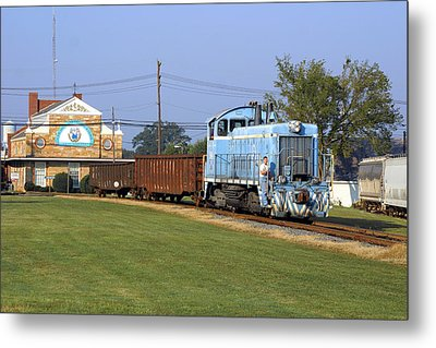 Short Train In A Small Town Metal Print