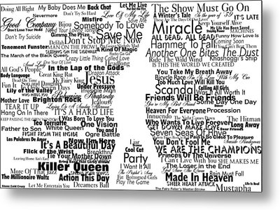 Show Must Go On Metal Print by Gianfranco Weiss