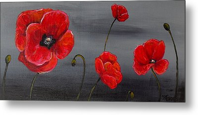 Show Off Poppies Metal Print