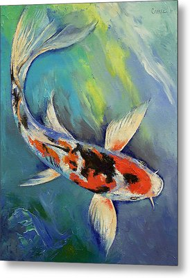 Showa Butterfly Koi Metal Print