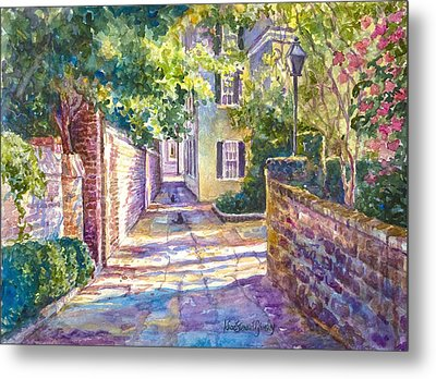Showdown In Price's Alley Metal Print by Alice Grimsley