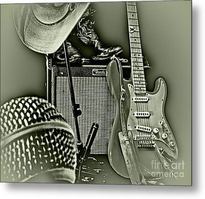 Show's Over - B W Metal Print by Robert Frederick