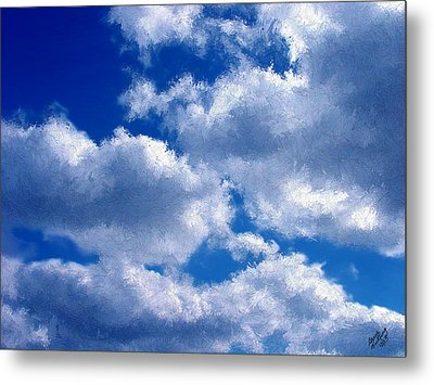 Shredded Clouds Metal Print