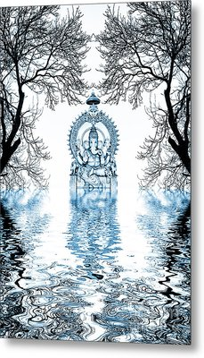 Shri Ganapati Deva Metal Print by Tim Gainey