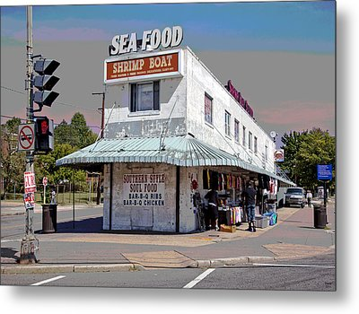 Shrimp Boat Benning Road Metal Print by Charles Shoup