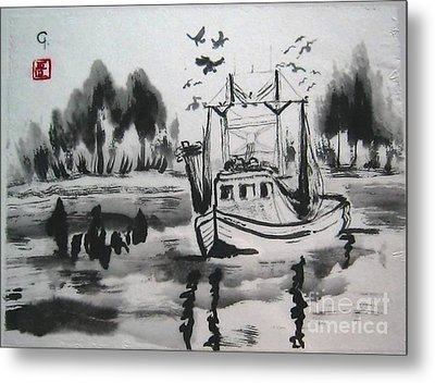 Shrimp Boat Biloxi Metal Print by Jeanel Walker