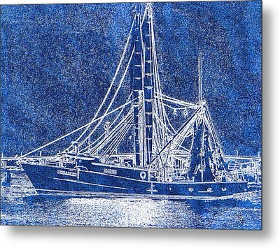 Shrimp Boat - Dock - Coastal Dreaming Metal Print