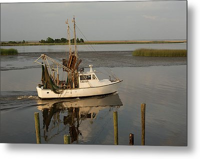 Shrimp Boat On Apalachicola Bay Metal Print by Jim West